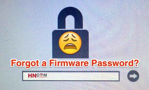 Lấy lại Mật Khẩu Firmware Macbook PRO