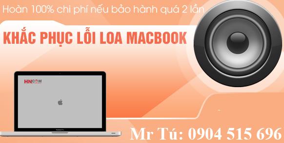 khắc phục lỗi loa macbook
