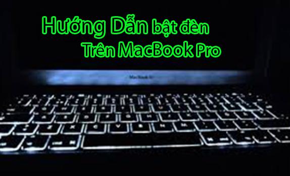 cách tắt bật đèn macbook