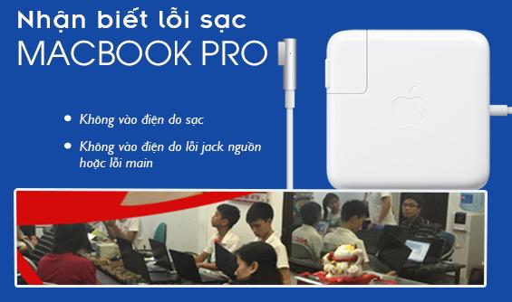 Nhận biết lỗi sạc Macbook pro