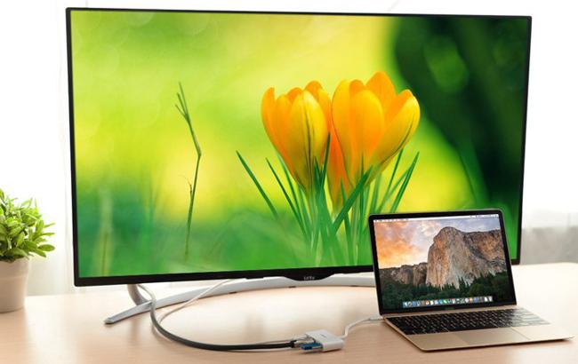 kết nối màn hình macbook lên tivi.