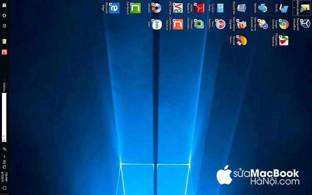 Màn hình macbook bị xoay ngang chỉ khi dùng hệ điều hành windows
