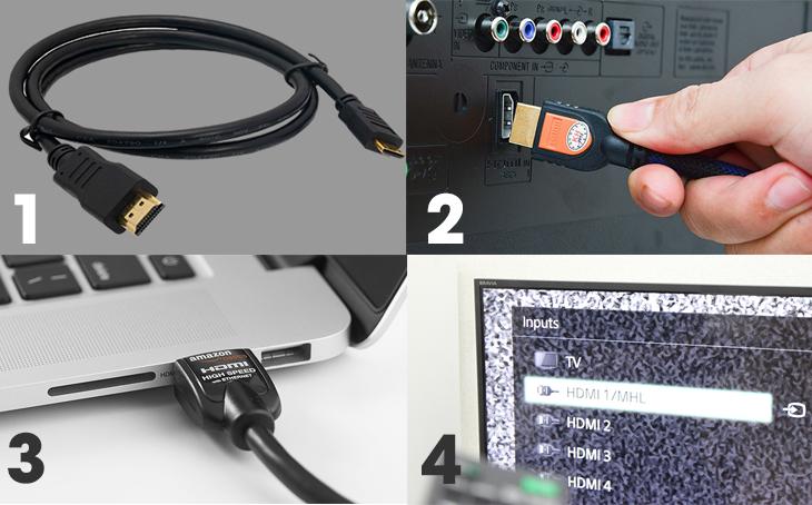 Kết nối với Tivi qua cổng HDMI