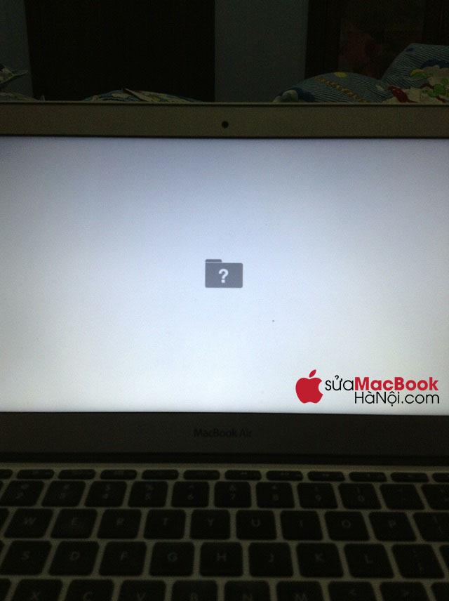 Dấu hiệu Macbook bị lỗi folder dấu chấm hỏi gạch chéo