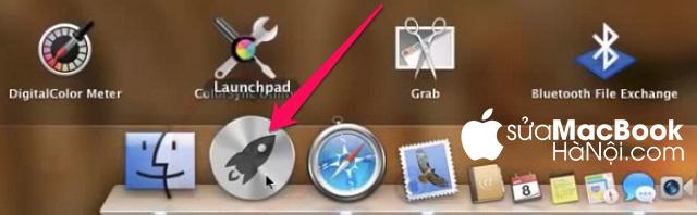 Truy cập vào mục Launchpad