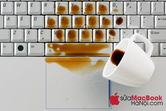 Macbook bị đổ dung dịch khác như cà phê