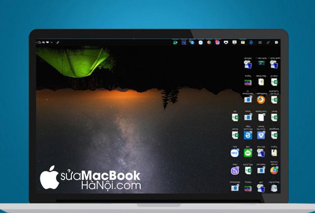 Một số tình huống sử dụng buộc người dùng phải xoay màn hình macbook