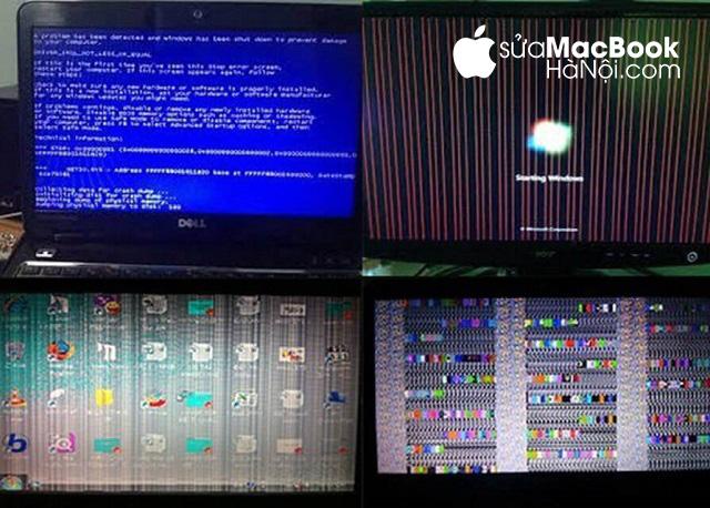 Một số trường hợp macbook bị lỗi card đồ họa thường gặp.