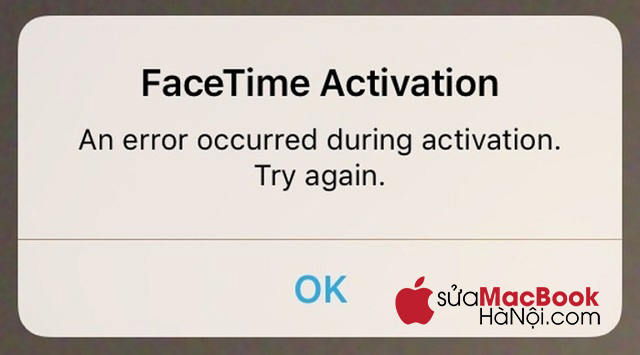 Tắt hoạt động hiện thời của facetime rồi bật trở lại.