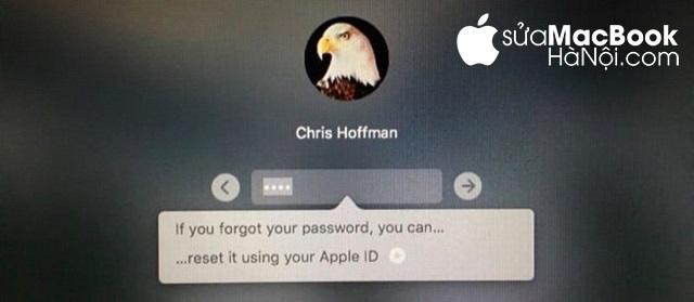 Thiết lập lại password cho macbook bị quên mật khẩu bằng cách sử dụng Apple ID.