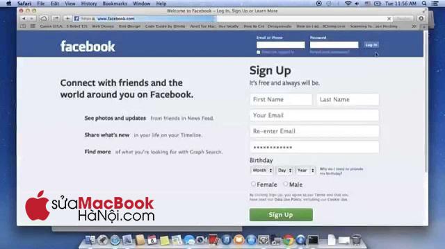 Thử nhiều biện pháp để xử lý tình trạng MacBook không vào được Facebook.
